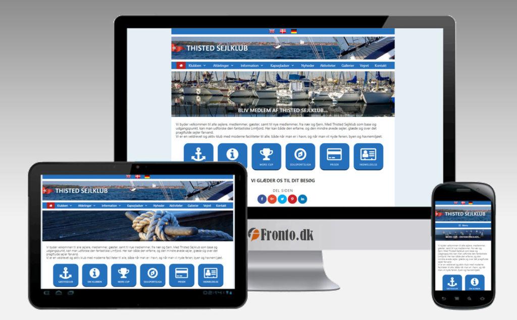 Thisted Sejlklubs nye hjemmeside